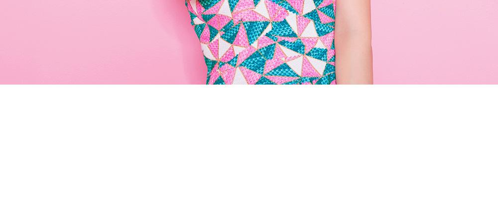 时尚款镂空设计雨滴元素无袖t恤