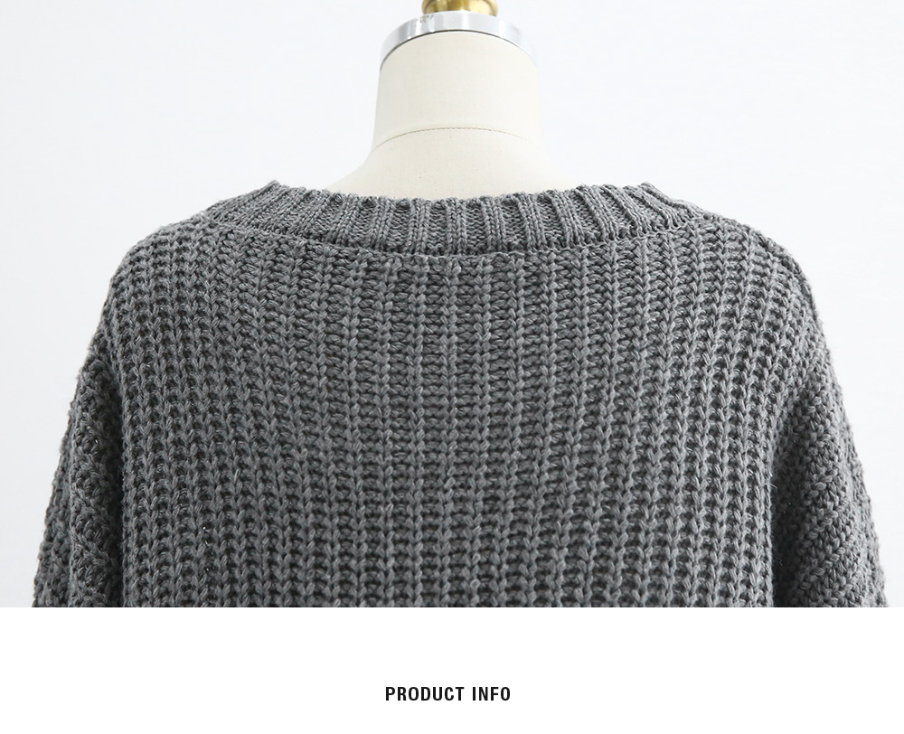 Long Knitted Loose Sweater|