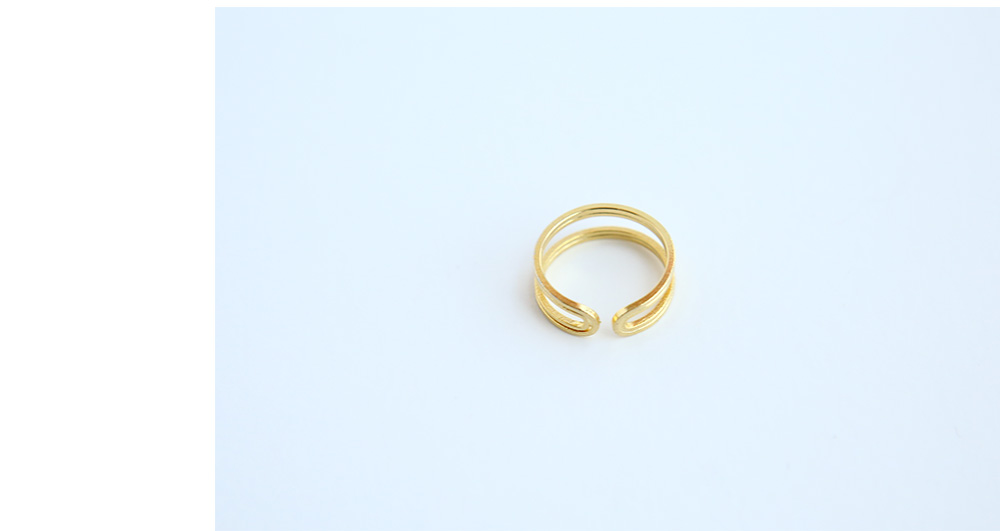 Gold Tone Open Band Ring Set|