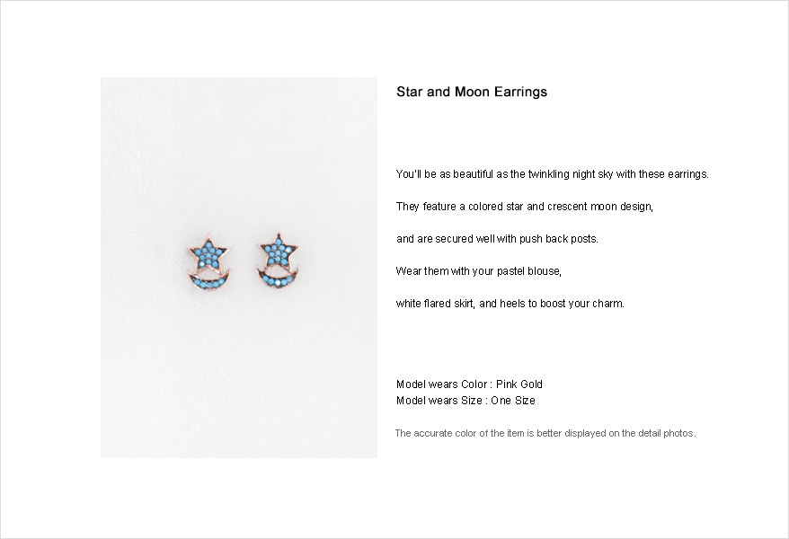 Star and Moon Earrings|