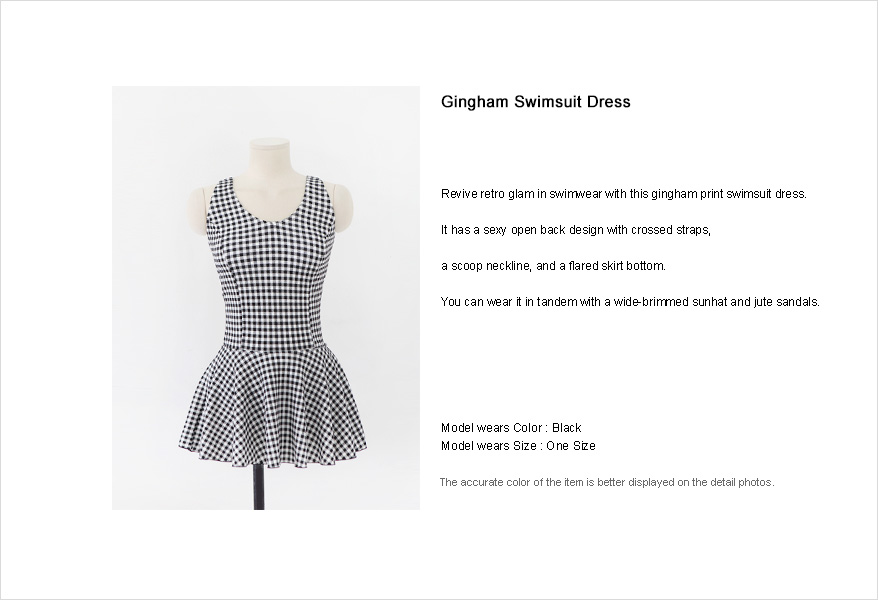 Gingham Swimsuit Dress|