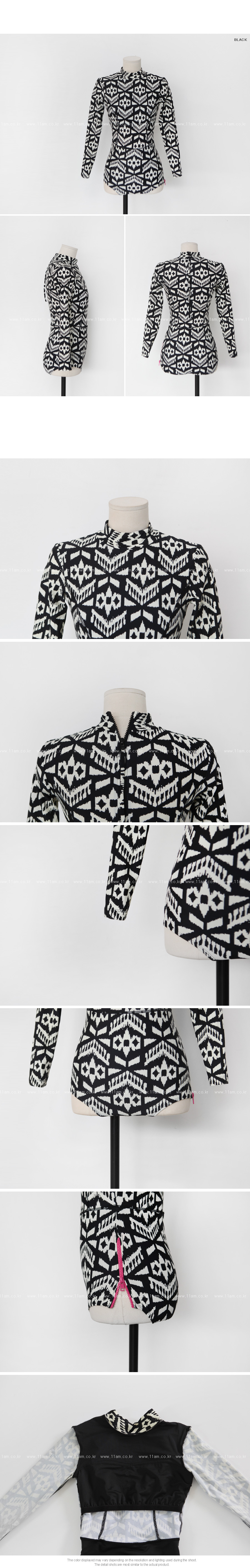 Patterned One-Piece Rash Guard|