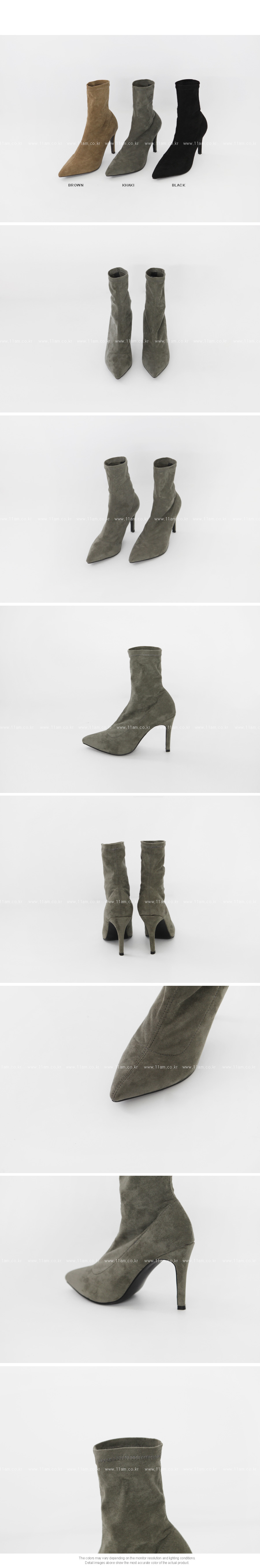 Pointed Toe Heeled Ankle Boots|