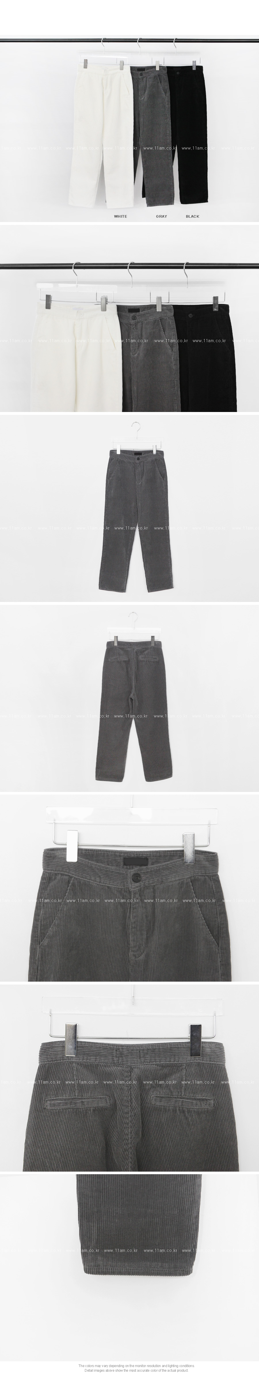 Corduroy Ankle Pants|