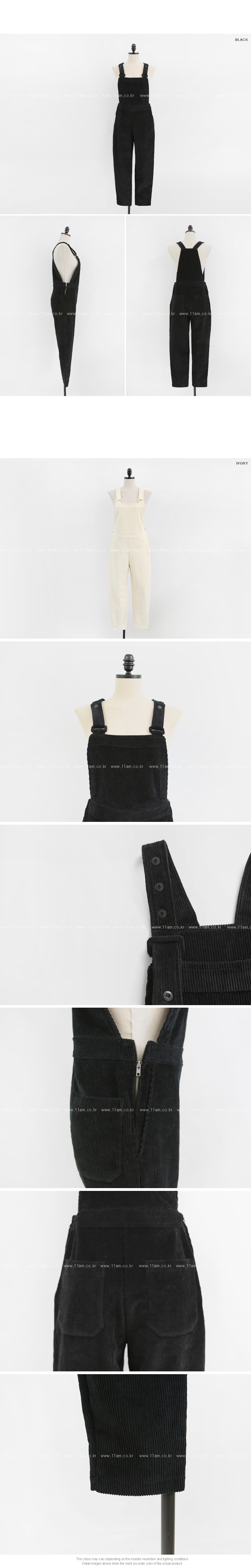 Snap Button Corduroy Overalls|