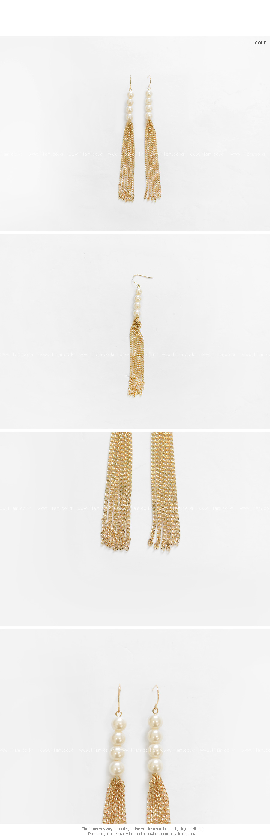 Chain Drop Hook Earrings|