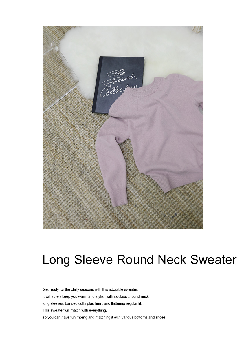 Long Sleeve Round Neck Sweater|