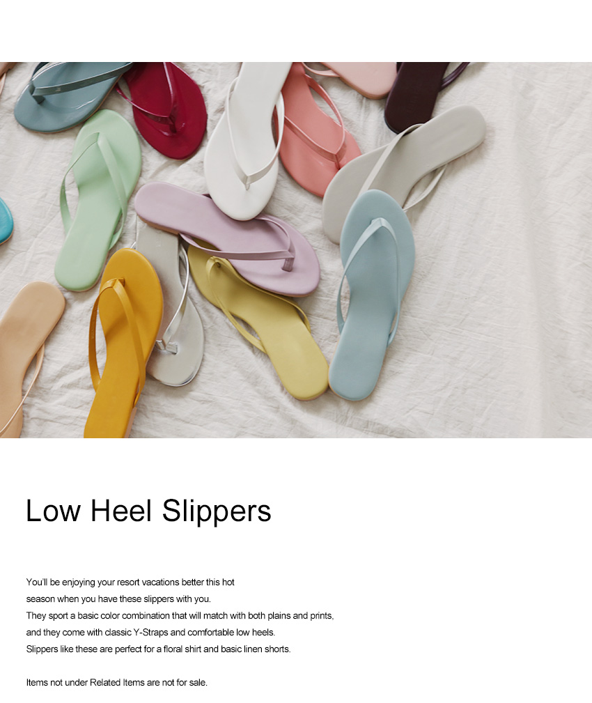 Low Heel Slippers|