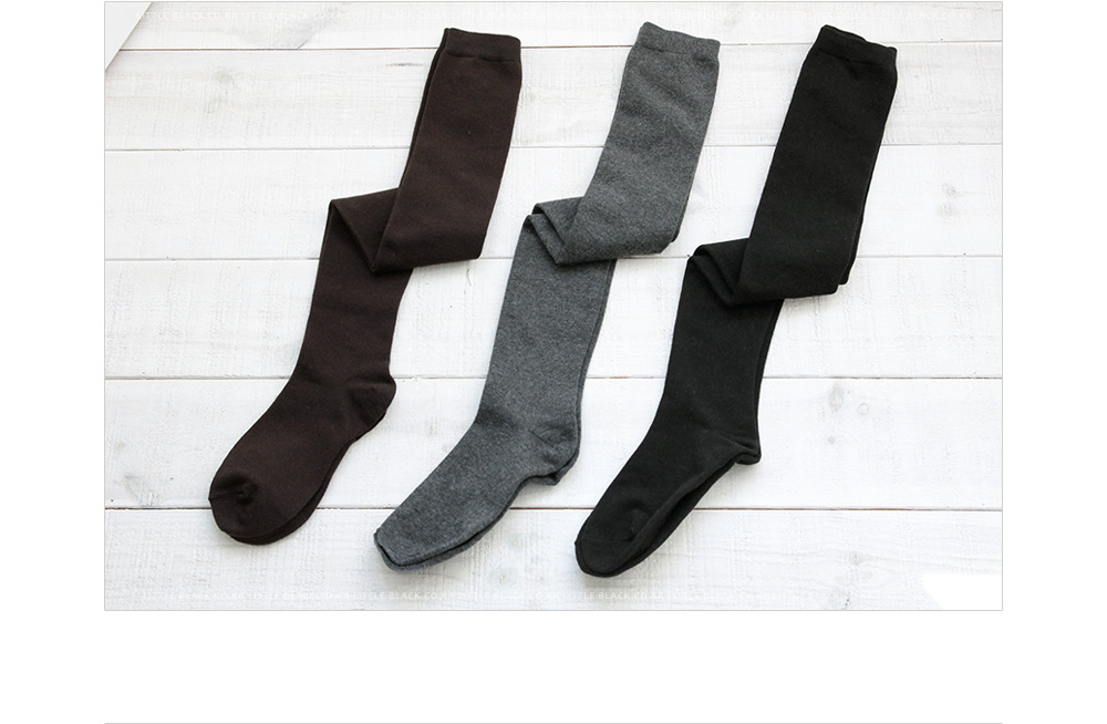 Basic Knit Knee-High Socks|