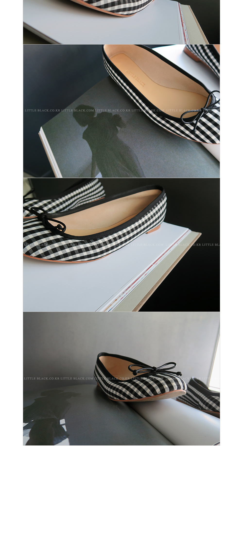 Gingham Check Flats|