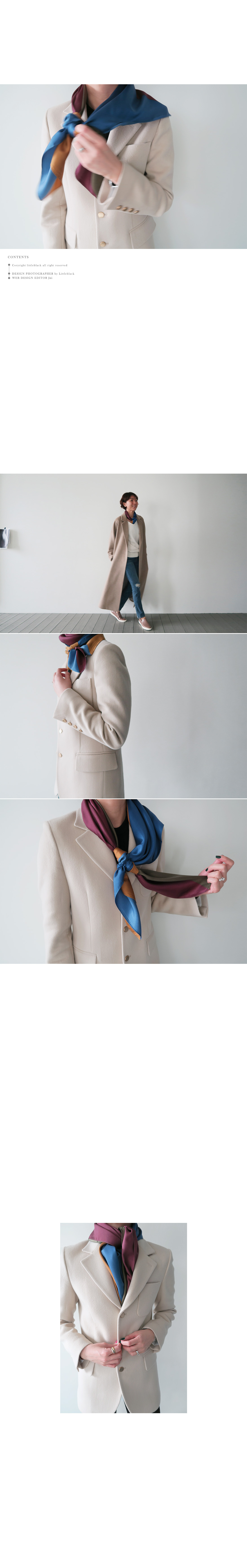 Four-Color Silk Scarf|