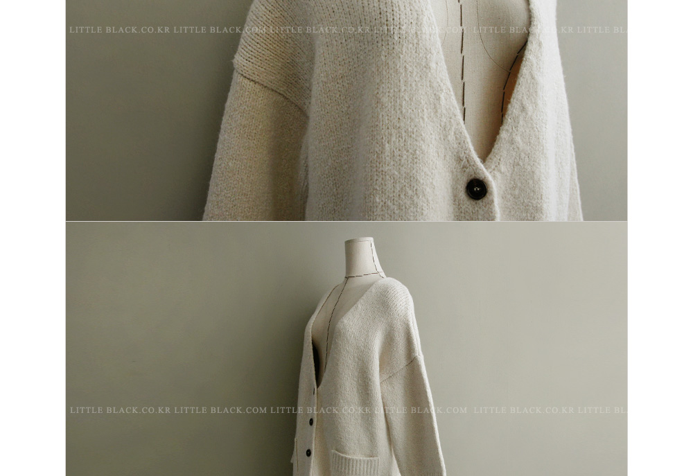 Deep V-Neck Button-Front Cardigan|