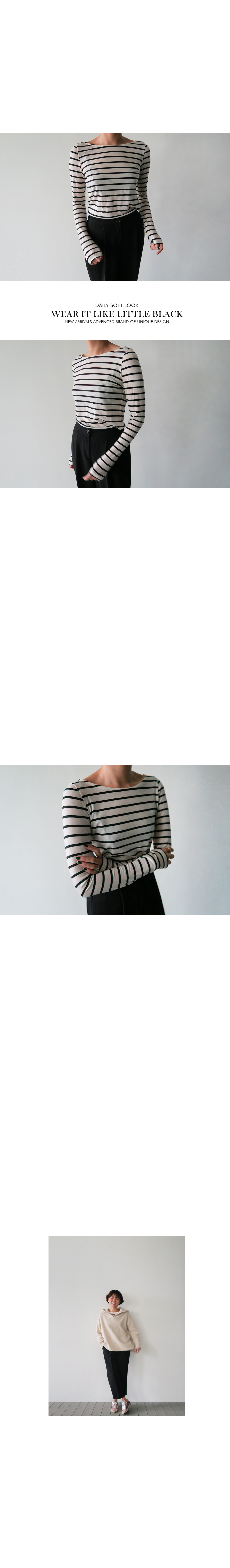 Long-Sleeve Striped Boatneck T-Shirt|