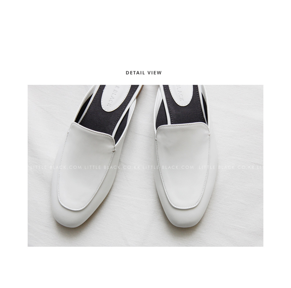 Cowhide Backless Loafers|