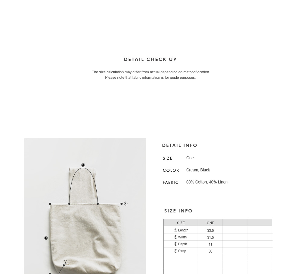 Cotton-Linen Wide Handle Bag|