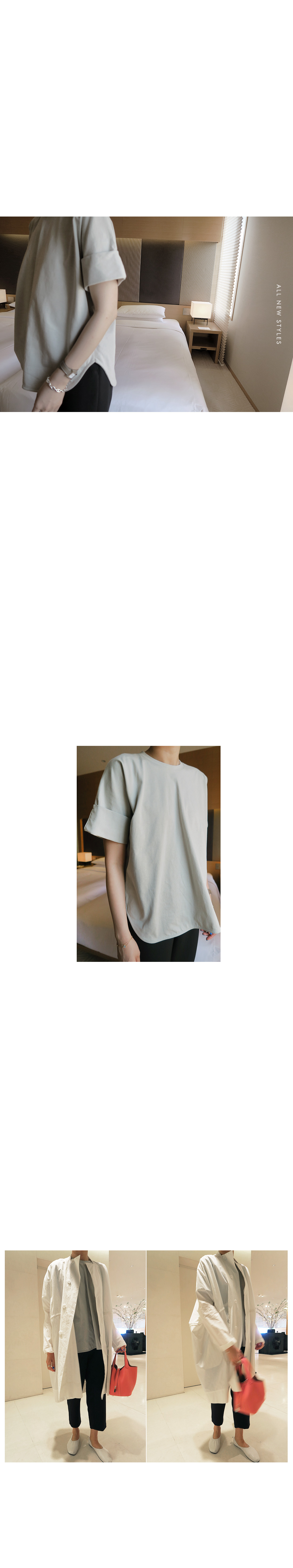 Rolled-Up Short Sleeve Top|