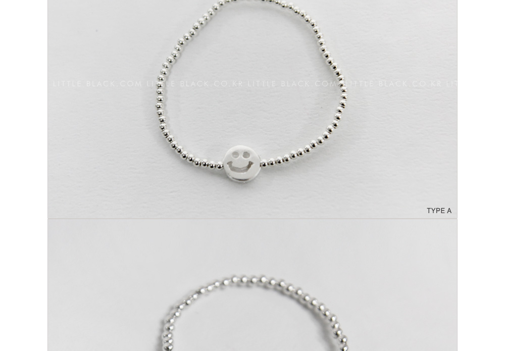 Silver Ball Bracelet with Pendant (7 Types)|