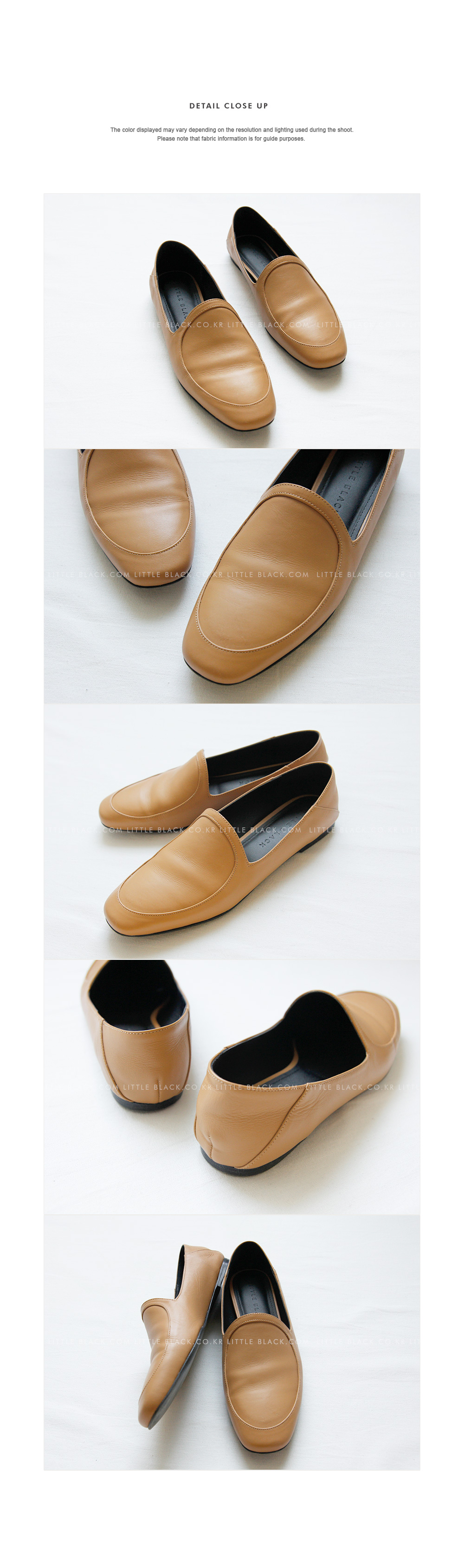 Almond Toe Cowhide Leather Loafers|