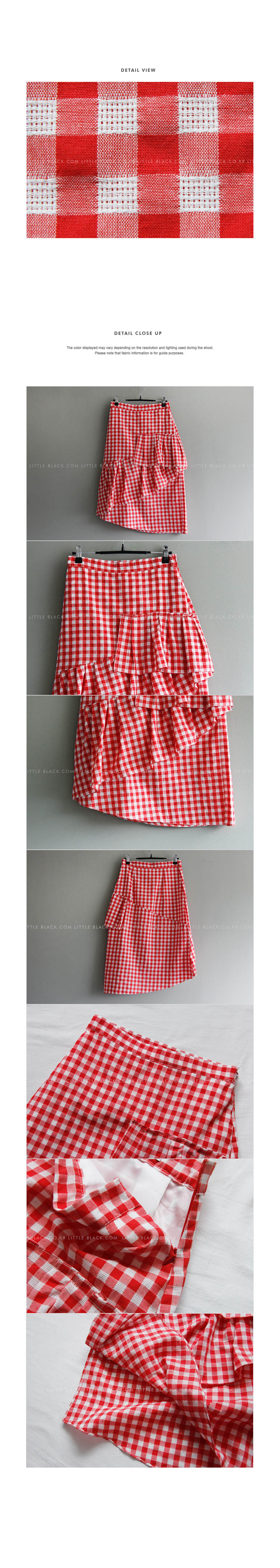Ruffle Gingham Tiered Skirt|