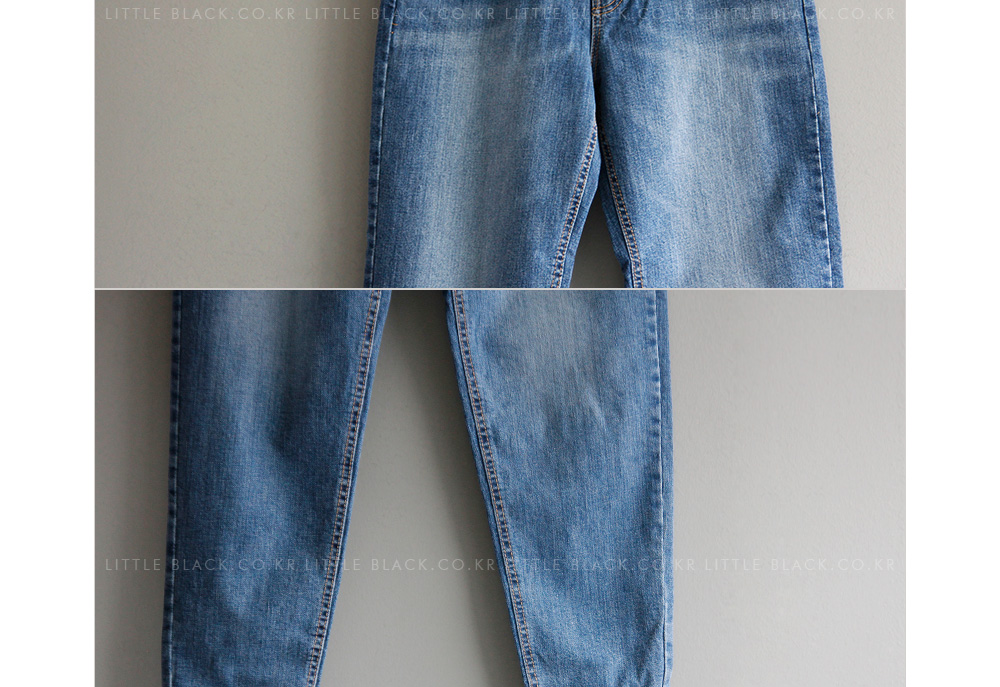 Light Wash Tapered Jeans|