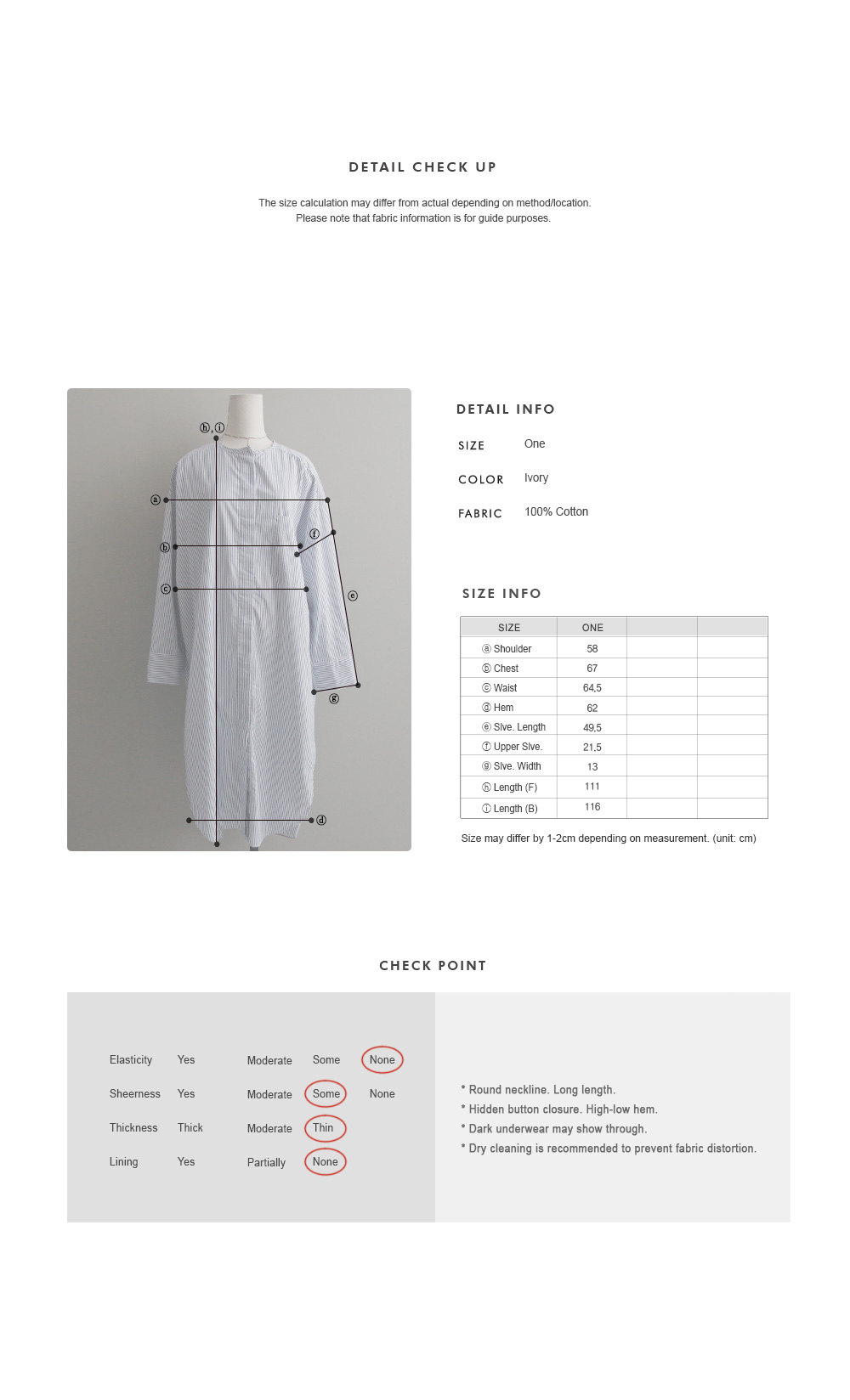Stripe Shirt Dress|