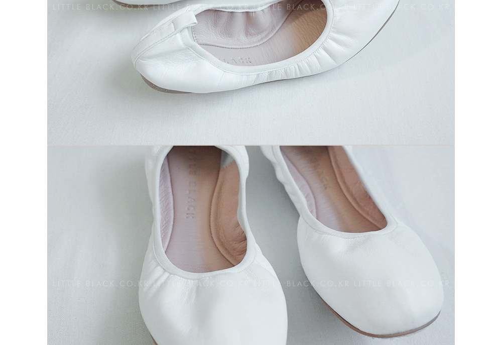 Lambskin Leather Elastic Ballet Flats|