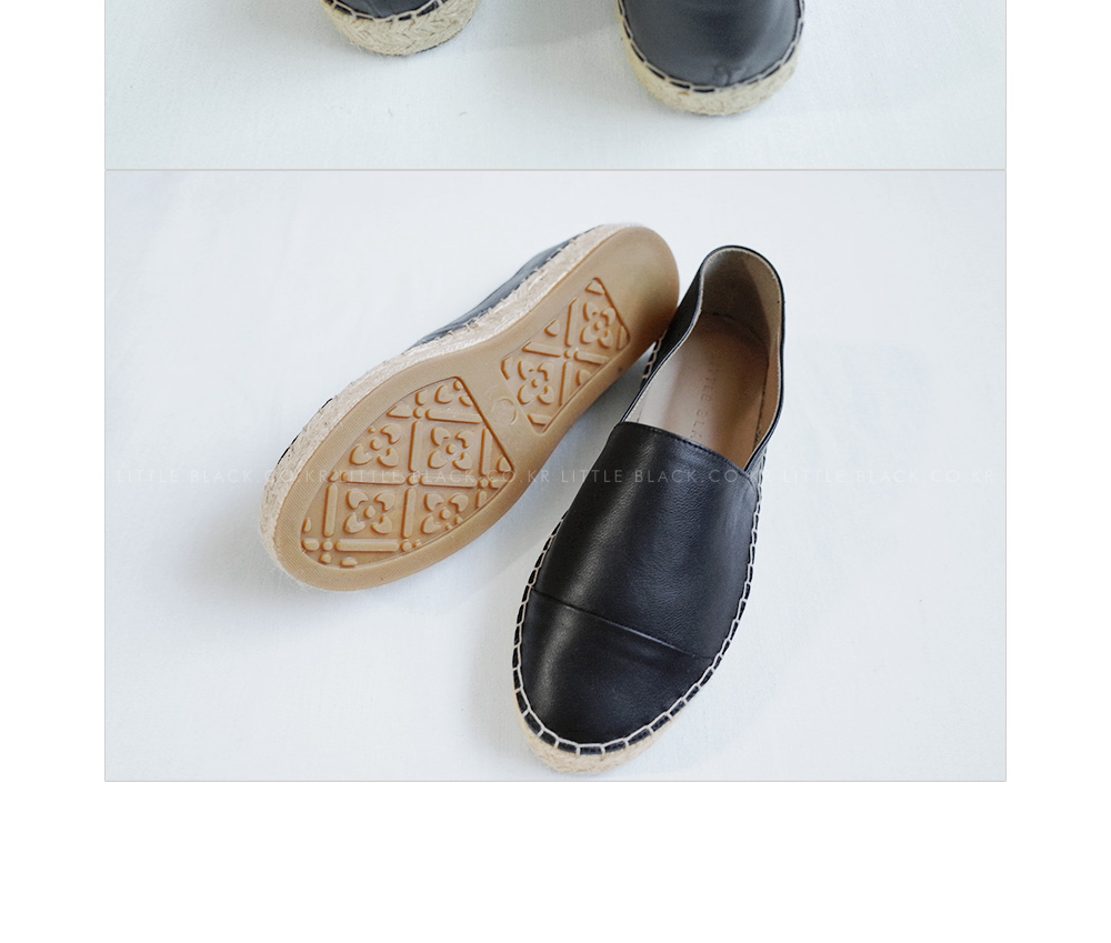 Leather Espadrille Slip-Ons|