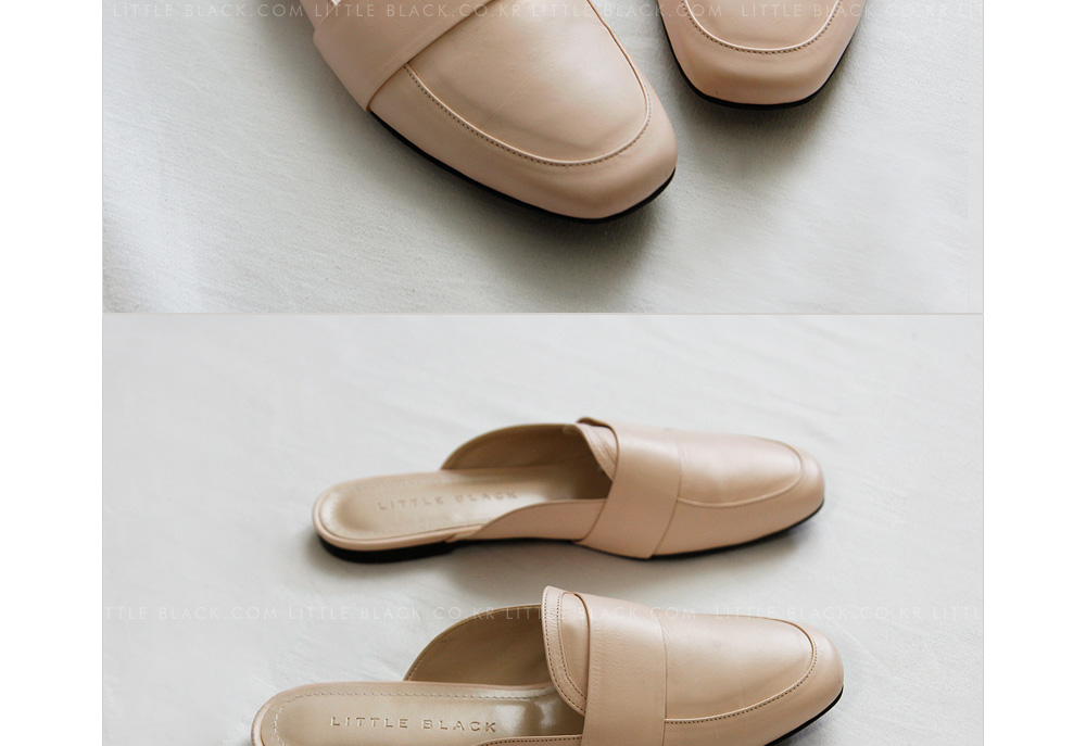 Cowhide Loafer Mules|
