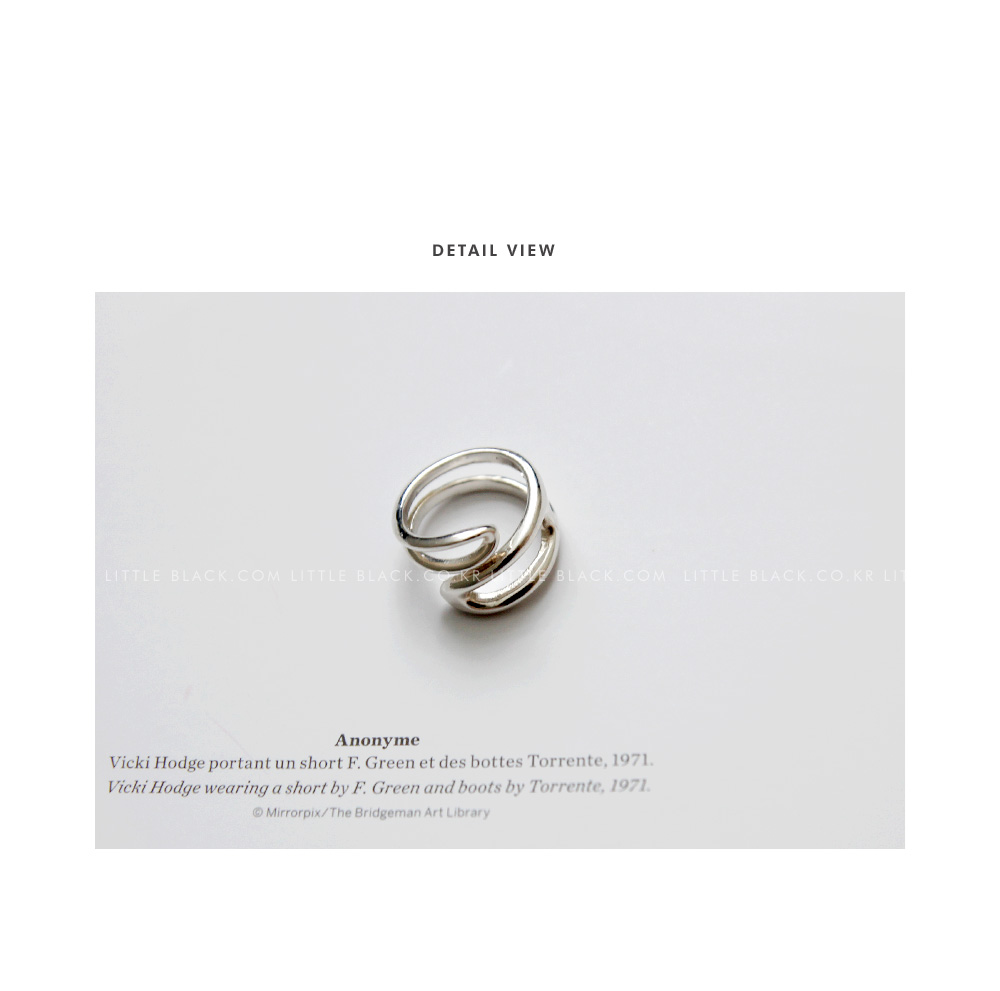 Sterling Silver Double Loop Ring|