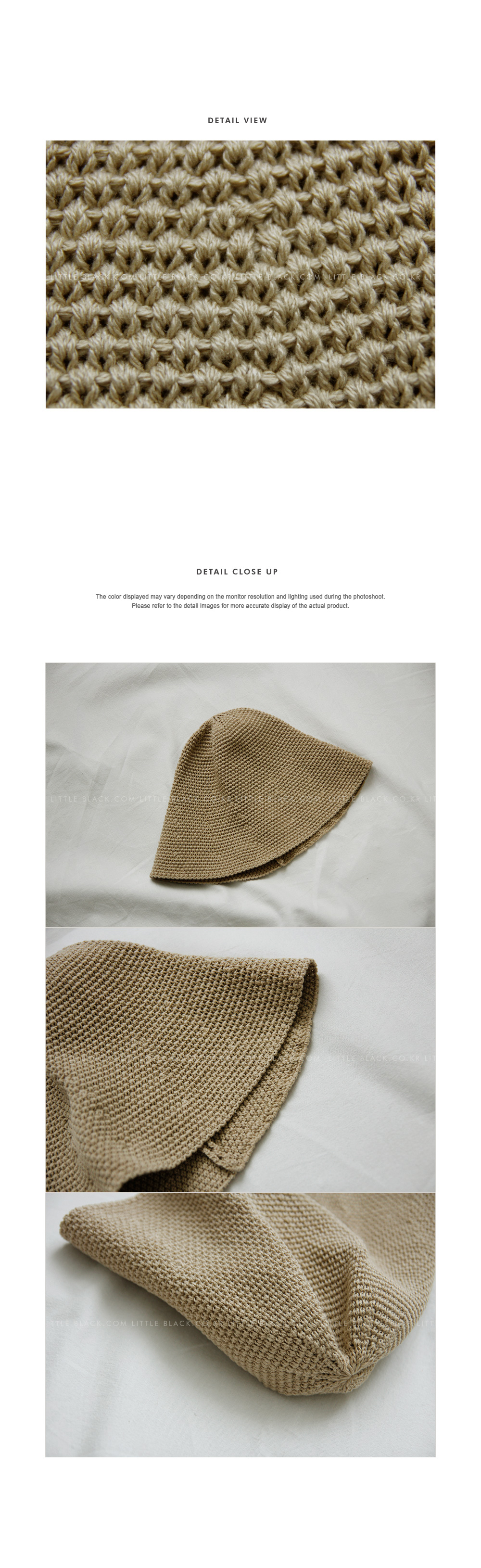 Knitted Bucket Hat|