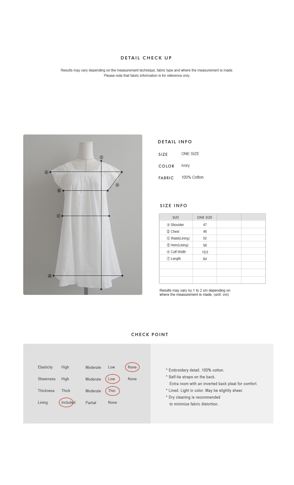 Square Neck Embroidered Shift Dress|