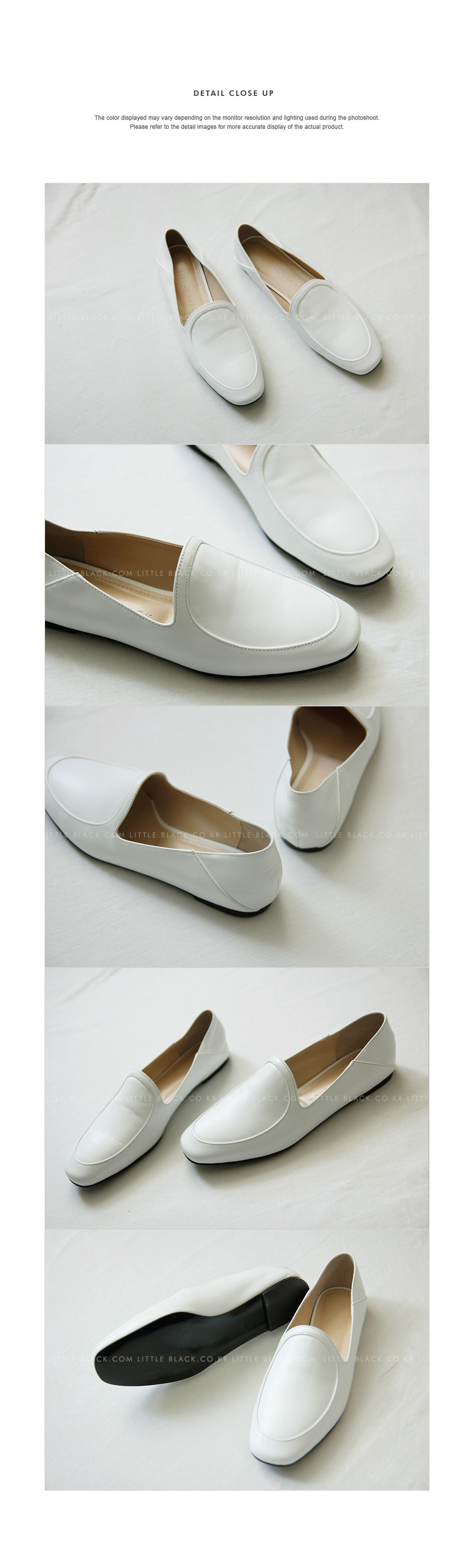 White Cowhide Loafers|