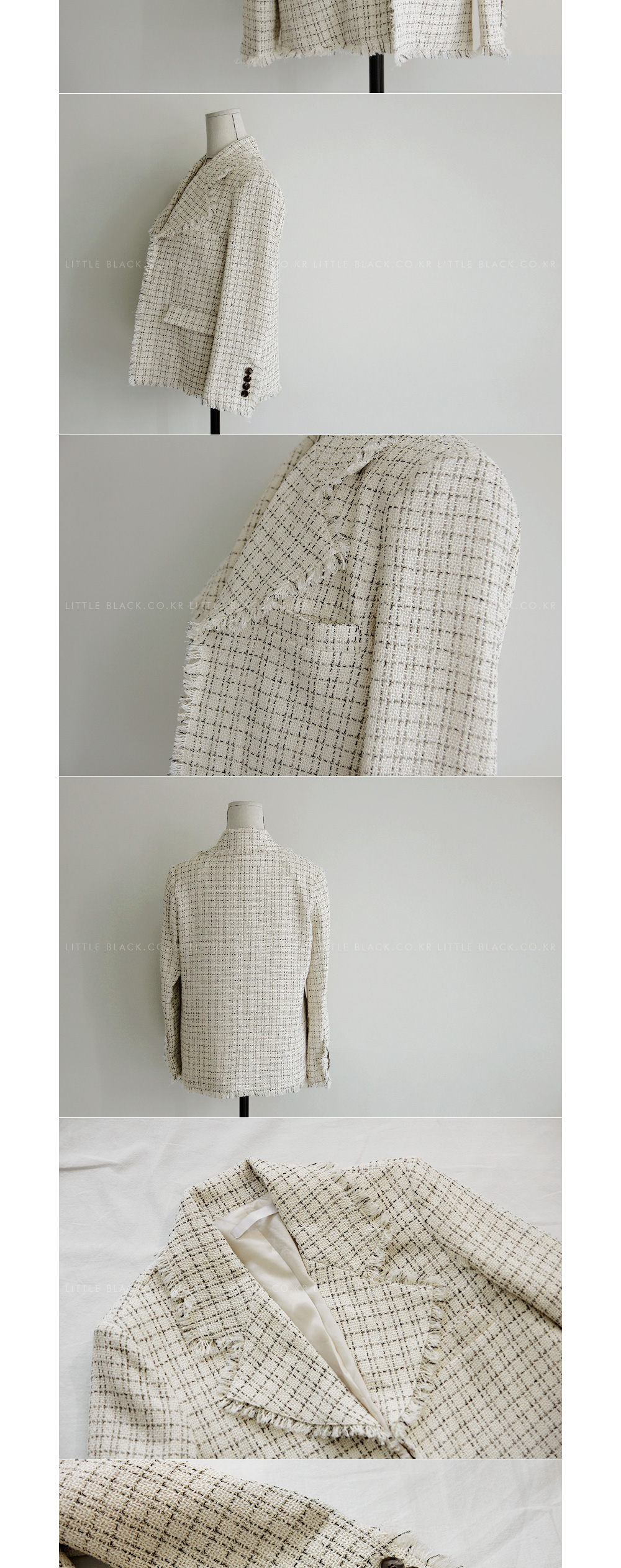 Tweed Fringe Trim Jacket|