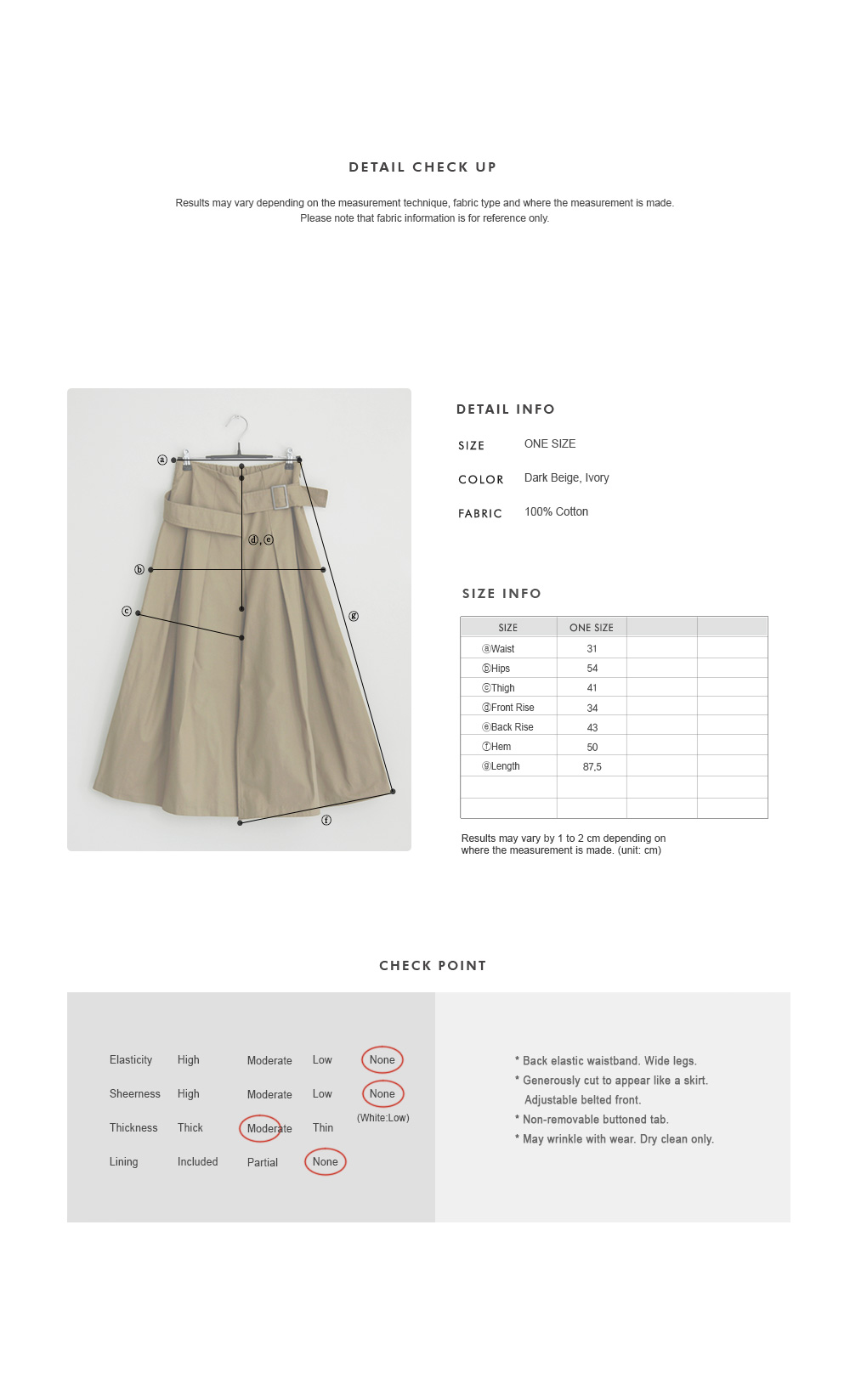 Belt-Accent Pleated Palazzo Pants|