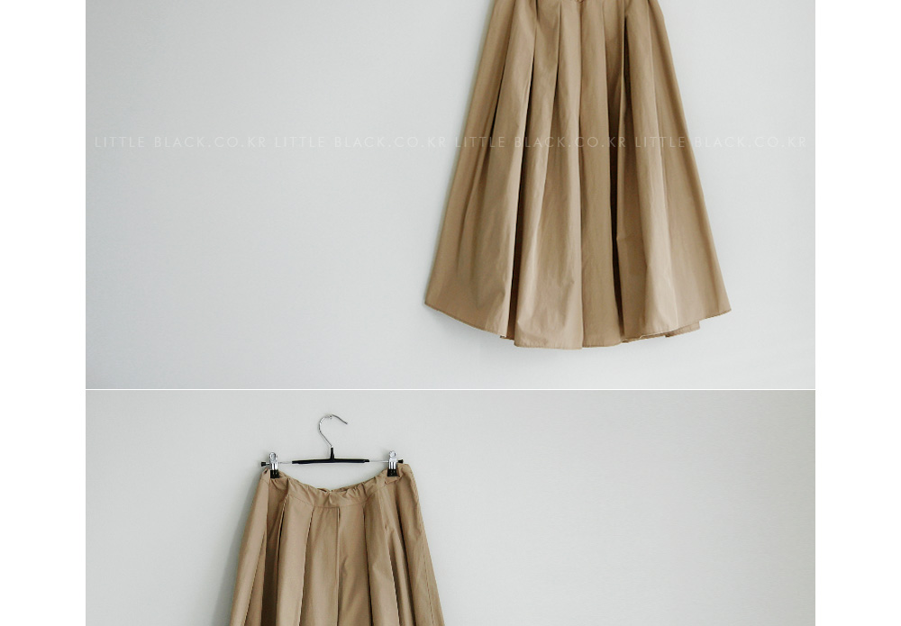 Drawstring Waist Wide Pleated Midaxi Skirt|