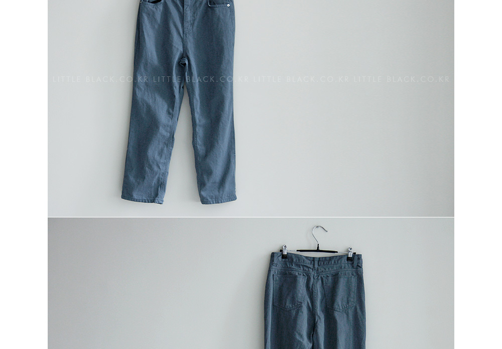 Relaxed Fit Straight Leg Twill Pants|
