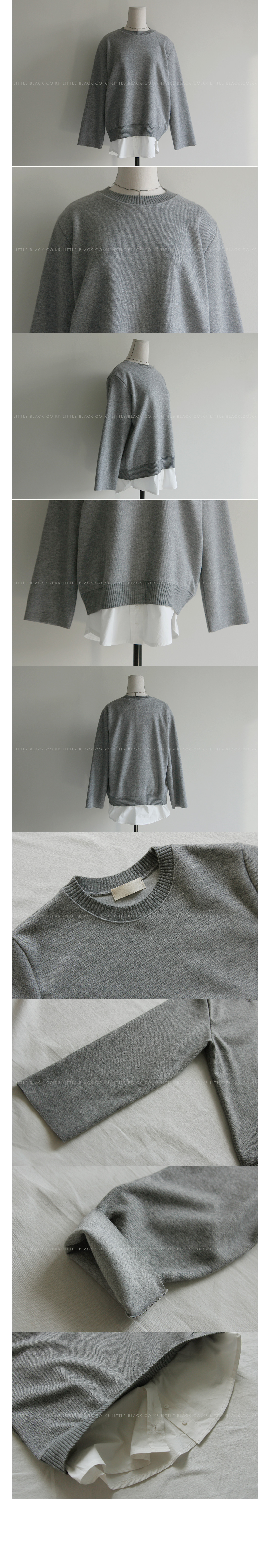 Wool Blend Faux Layered Sweater|