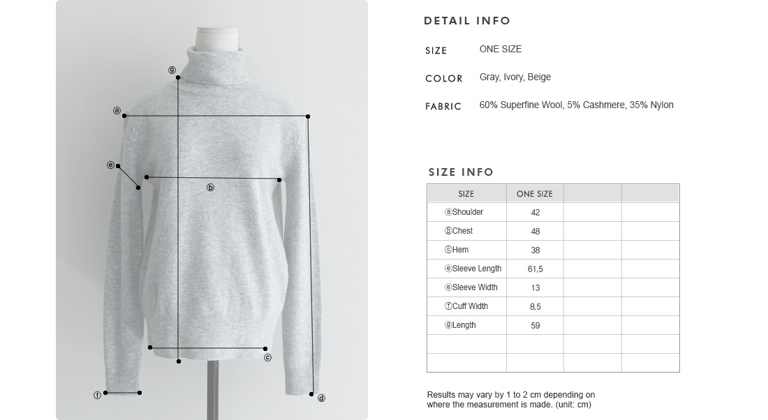 Wool Blend Turtleneck Sweater|