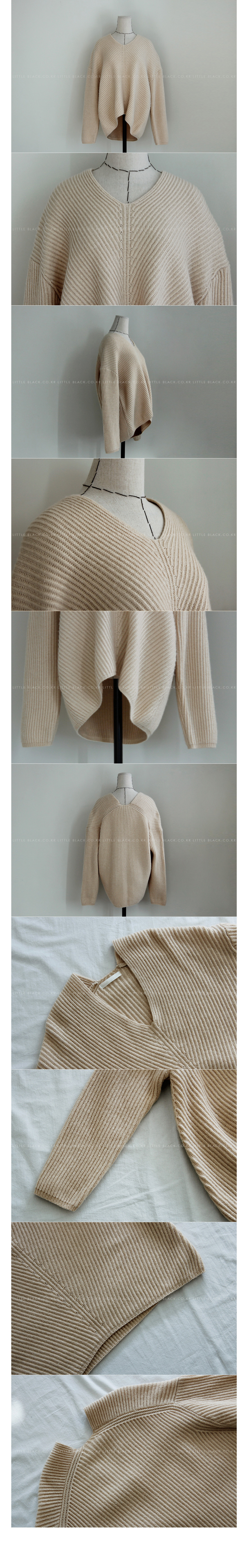 V-Neck Ribbed Sweater|