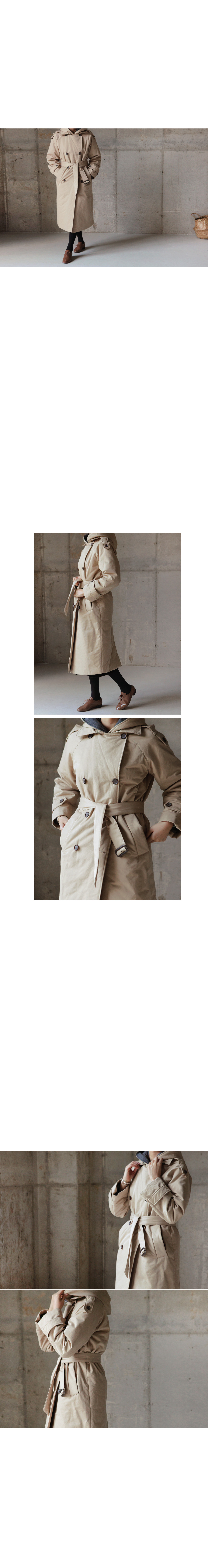 Contrast Lining Trench Coat|