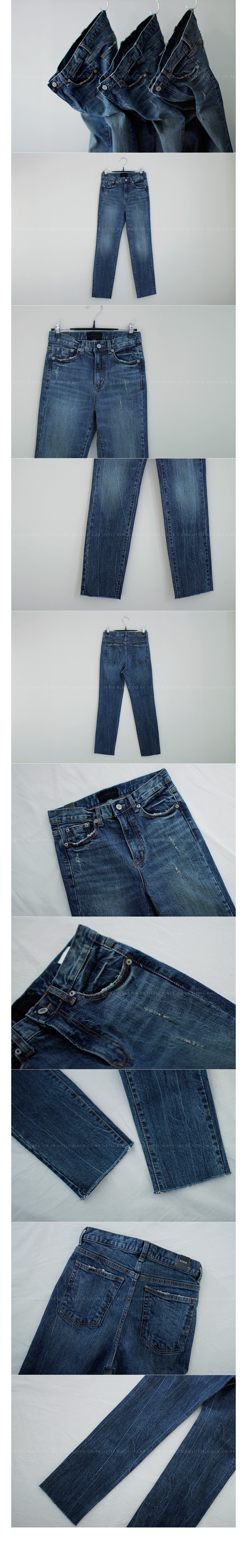 Raw Hem Straight Leg Jeans|