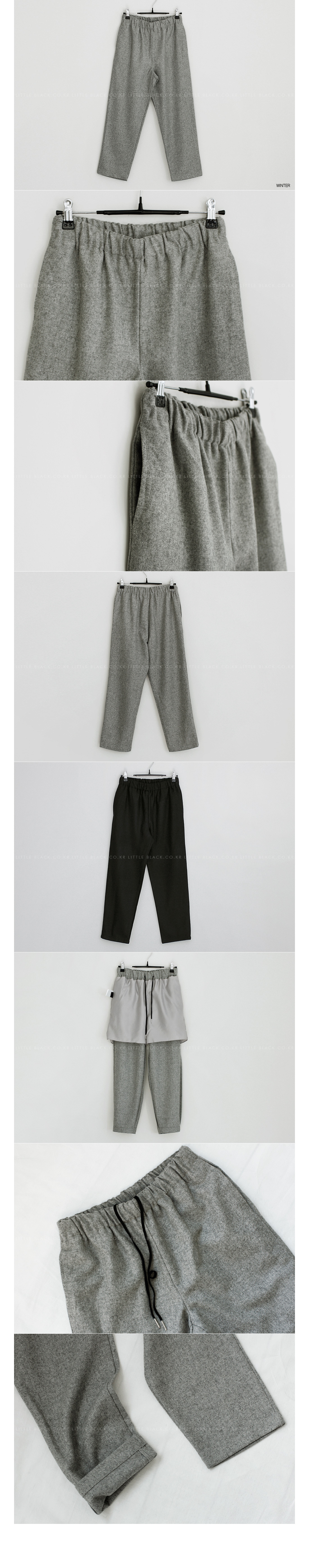 Drawstring Waist Relaxed Fit Crop Pants|