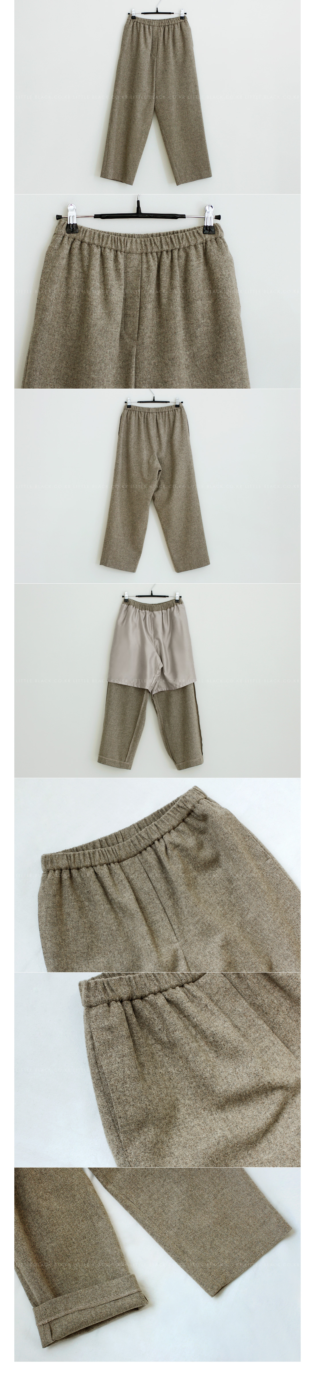 Straight Leg Wool Ankle Pants|