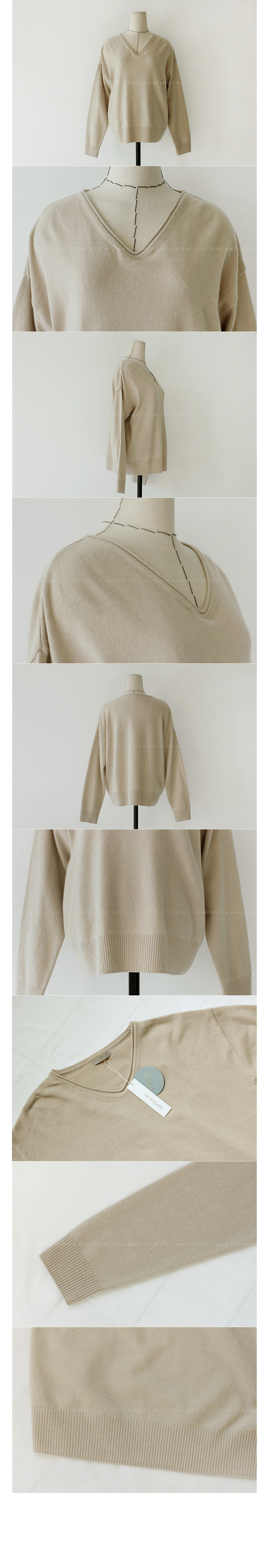 Drop Shoulder Rib Trim Knit Sweater|