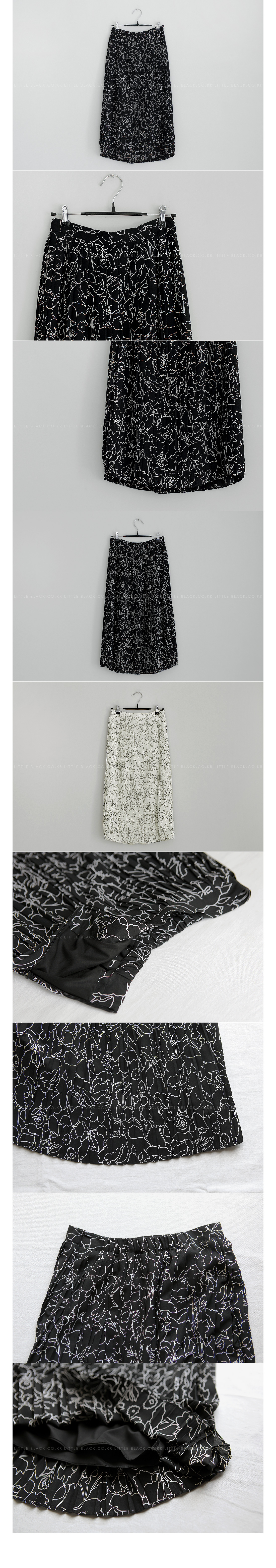 Pleated Floral Print Skirt|