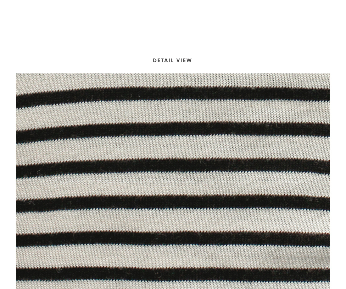 Round Neck Striped Knit Top|