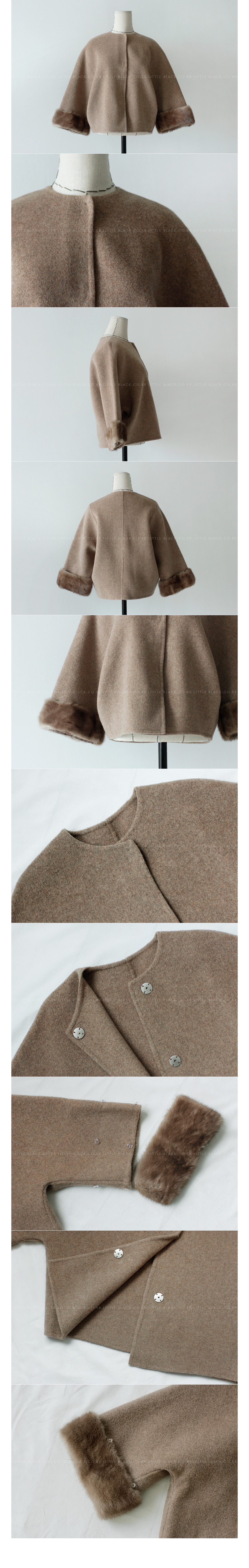 Fur Trim Wool Blend Jacket|