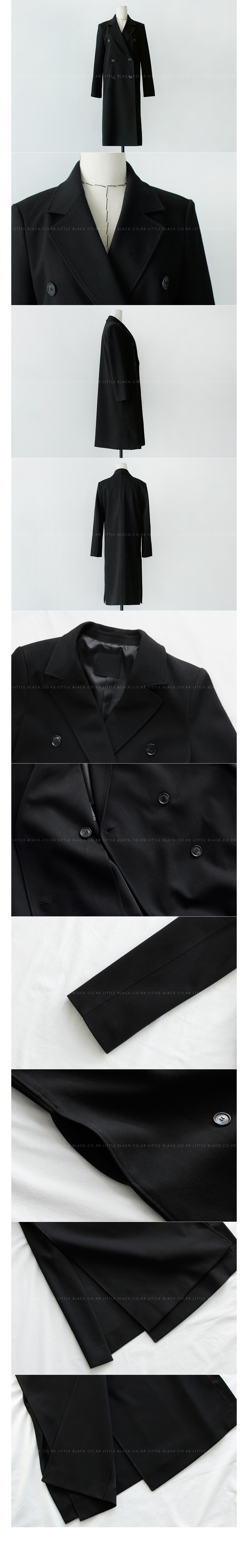 Longline Double-Breasted Coat|