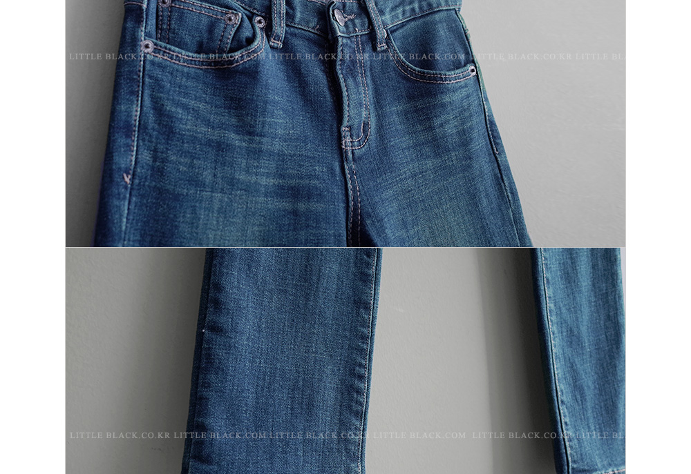 Fleece Lined Straight Leg Jeans|