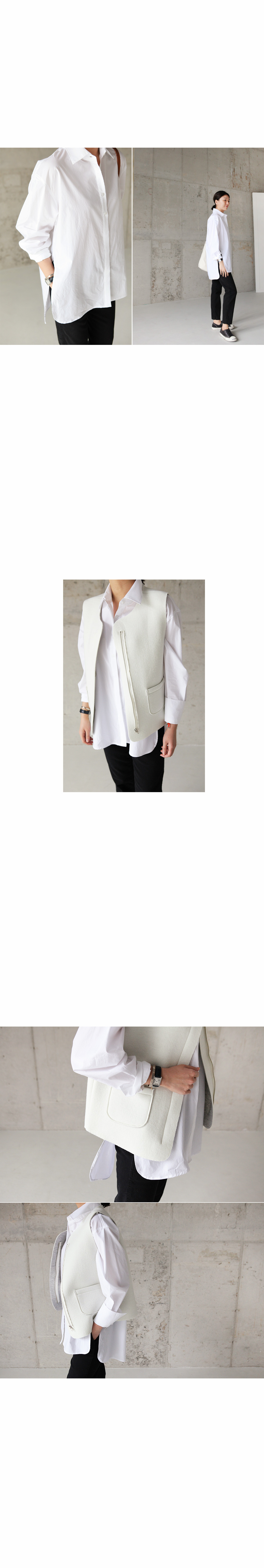 High-Low Hem Boyfriend Shirt|